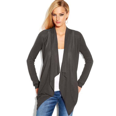 grey draped cardigan inc international concepts draped asymmetrical openfront