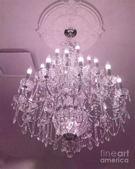 Paris Crystal Chandelier Dreamy Romantic Pink Sparkliing Pink Chandelier L