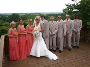 coral wedding colors what color tuxedo to match coral dresses weddingbee