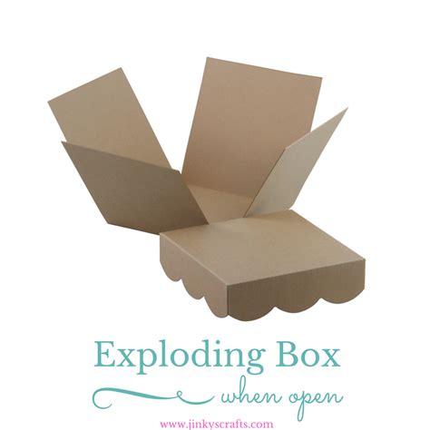 Exploding Box kraft exploding box diy kit jinkys crafts