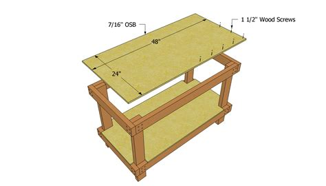 workbench plans   outdoor plans diy shed