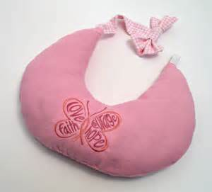 quot go for it quot embroidery breast cancer comfort pillow