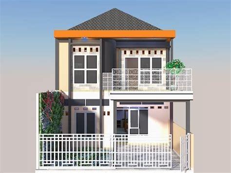 gambar desain rumah 8 x 12 rumah 2 lantai di lahan 84 m2 7 x 12 youtube