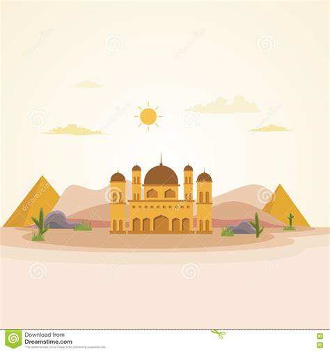 design masjid photoshop mosque islamic art with flat design stock vector image
