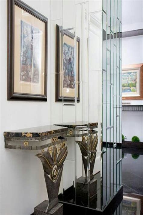 art deco decorations art deco interiors console table and framed wall art in