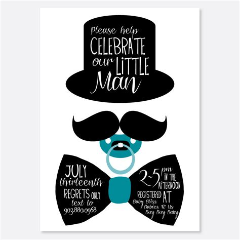 mustache invitations for baby shower mustache and bow tie baby shower invitations theruntime
