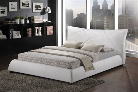 white king size bed baxton studio bbt6325 white king corie white modern