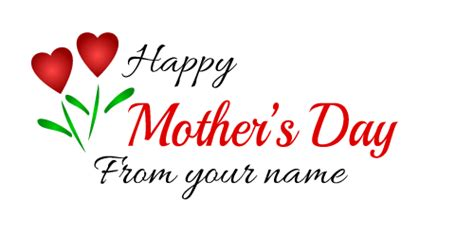 Mothers Day Logo Mother S Day Logo And Text Maker Thefreelogomakers