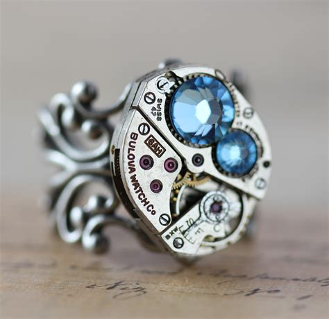 mothers ring birthstone ring custom made steunk barrel