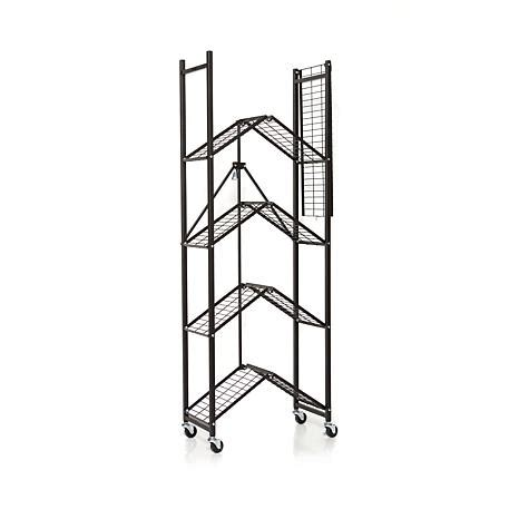 origami organizational rack origami 5 tier folding pantry rack 8090504 hsn