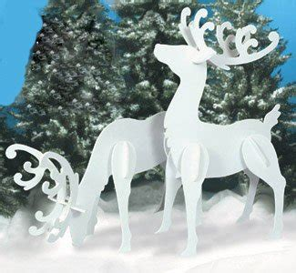 large christmas outdoor  reindeer set farm garden