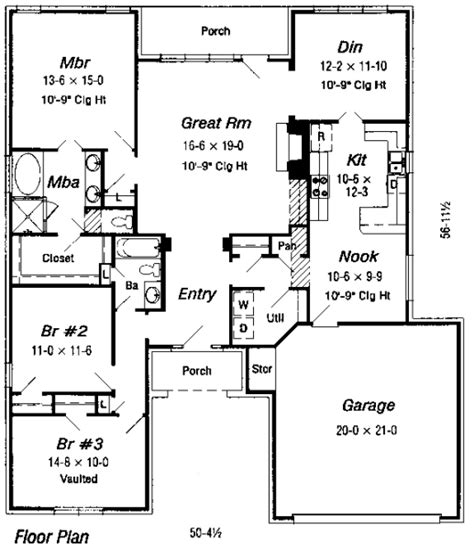 house floor plans blueprints house 28019 blueprint details floor plans