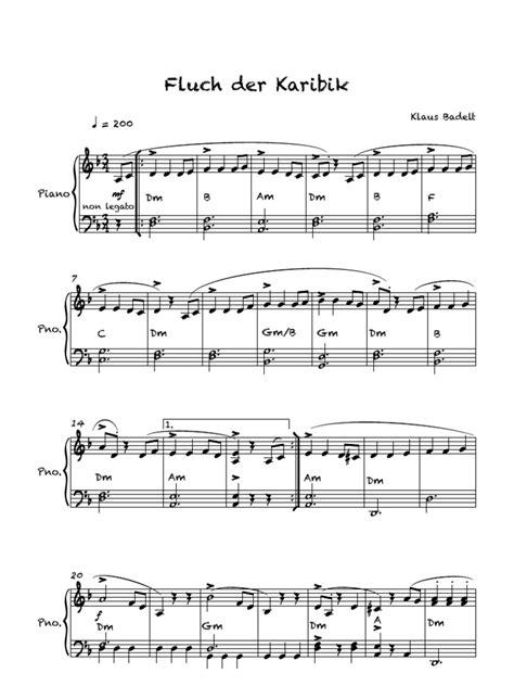 keyboard tutorial fluch der karibik fluch der karibik vereinfacht