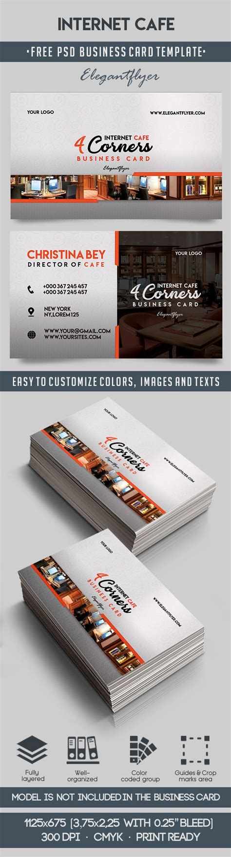 cafe business card template cafe free business card templates psd by