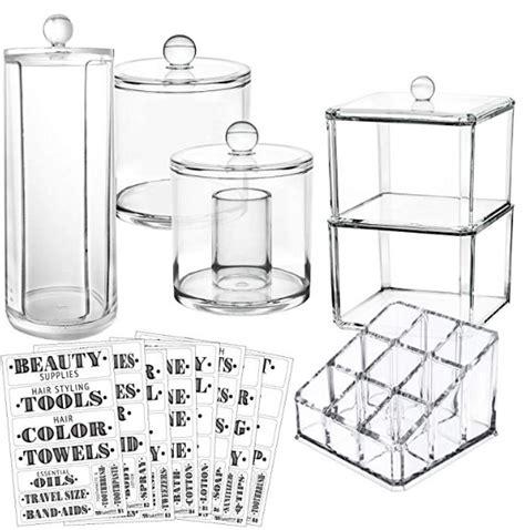 acrylic bathroom storage set a thrifty recipes
