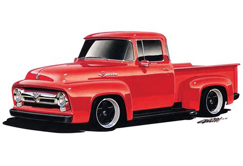 1956 Ford F100 by 1956 Ford F100 Wallpaper