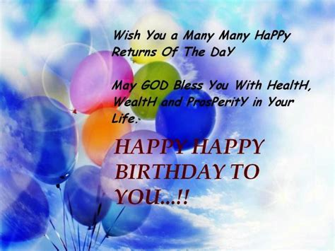 Many More Happy Birthday Wishes Wish You A Many Many Happy Returns Of The Day