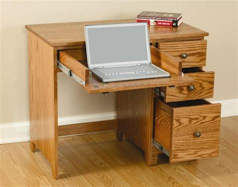 Small Wood Desk With Drawers Small Desk With Drawers
