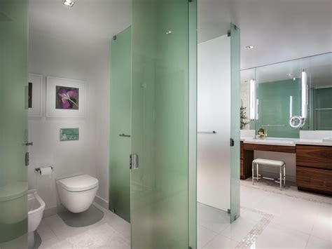 bathroom partition ideas green glass makes for sophisticated partition walls in the