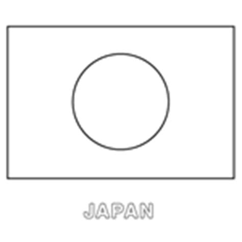 Coloring In Templates For Flags Of The World Download Now Japan Flag Template