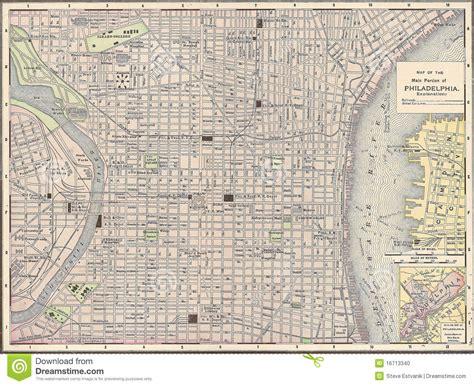 antique map of philadelphia vintage 1891 map of the city of philadelphia stock photo