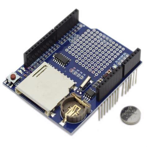Data Logger Shield For Arduino Data data logging shield v1 for arduino robotop lv