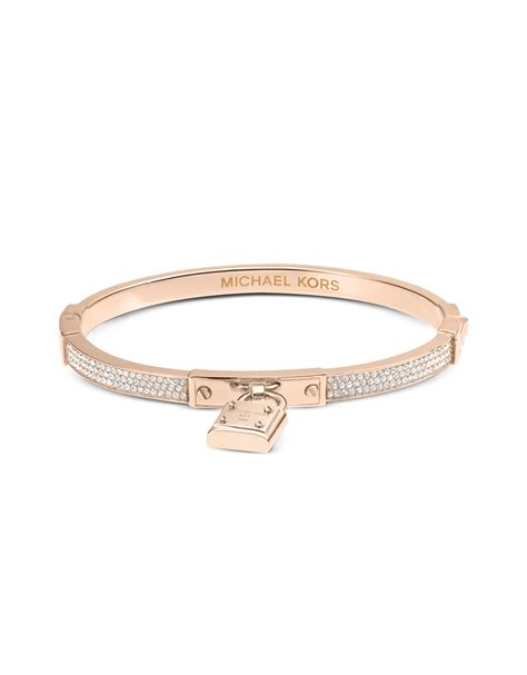lyst michael kors brilliance pave bangle bracelet in