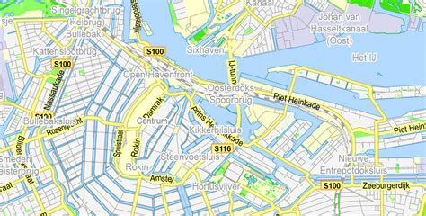 netherlands map pdf amsterdam map netherlands printable vector map adobe pdf