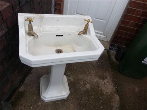 old fashioned bathroom sinks vintage old fashioned pedestal art deco ceramic sink for