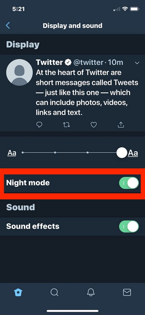enable dark mode  twitter  iphone  ipad