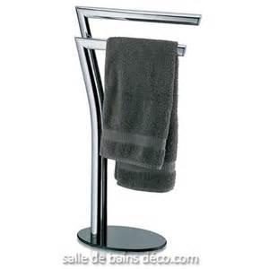 porte serviette salle de bain sur pied