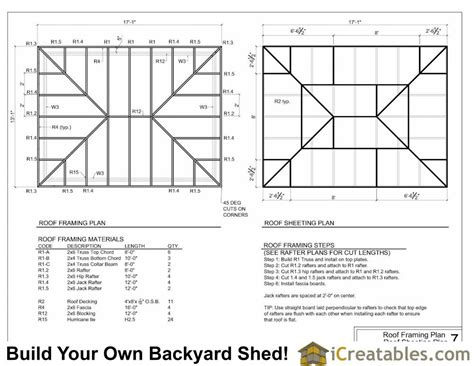 12x16 Hip Roof Shed Plans Basic House Plans Hip Roof