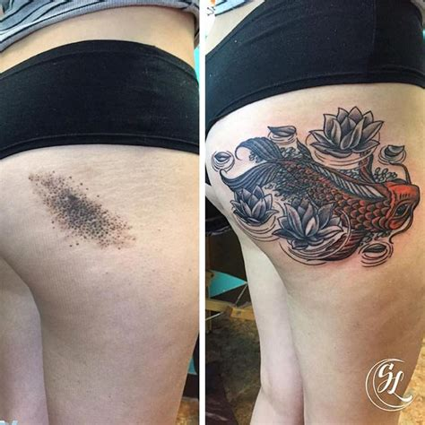 tattoo cover up red over black 20 creative birthmark tattoos cleverly incorporated onto
