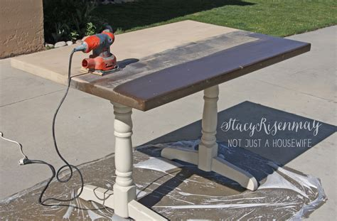 How To Refinish A Table Not Just A
