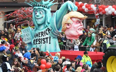 German Carnival Mocks Donald Trump And Theresa May With This Pro Donald 4th Of July Parade Float