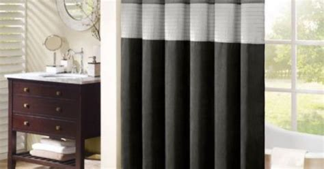 madison park amherst shower curtain madison park striped shower curtain polyester fabric black