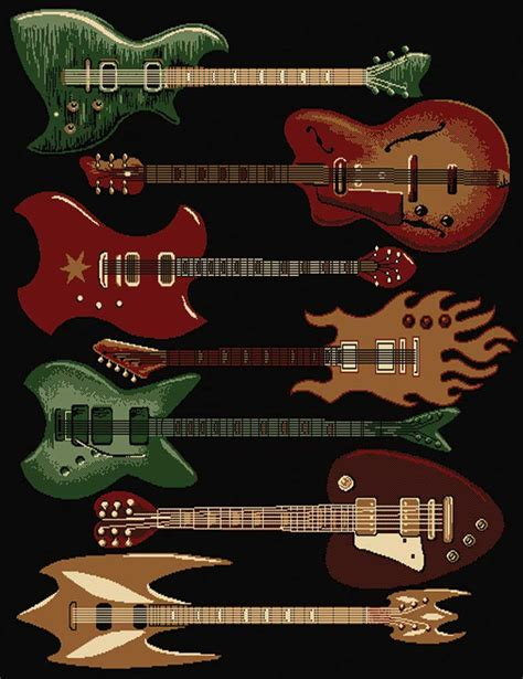 musical rugs buy rock n roll guitar rug gift furniture