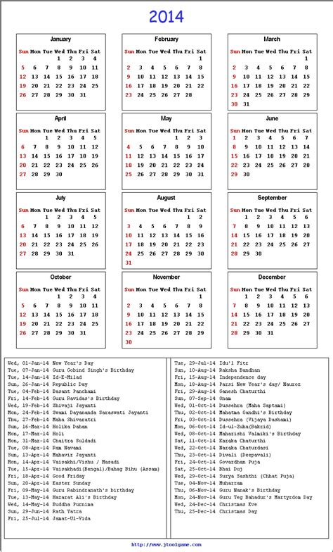 2014 Calendar With Holidays Related Keywords Suggestions For 2014 Calendar