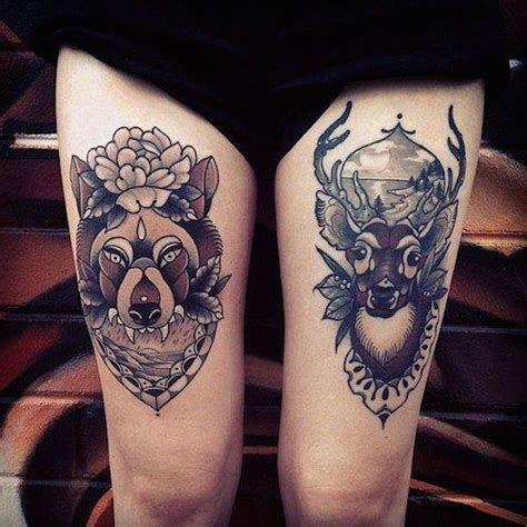 feminine thigh tattoos 55 thigh tattoos to accentuate your feminine
