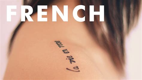 tattoos in french inspiring tattoos