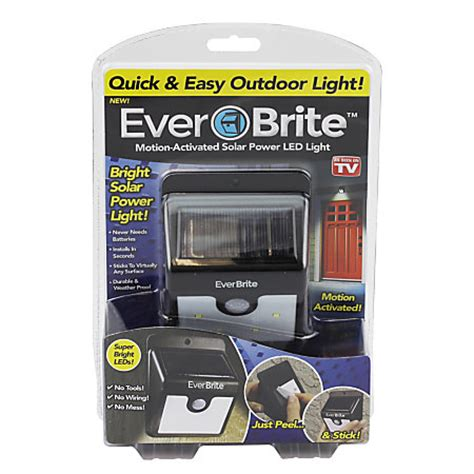 motion activated solar light everbrite motion activated solar powered led light by