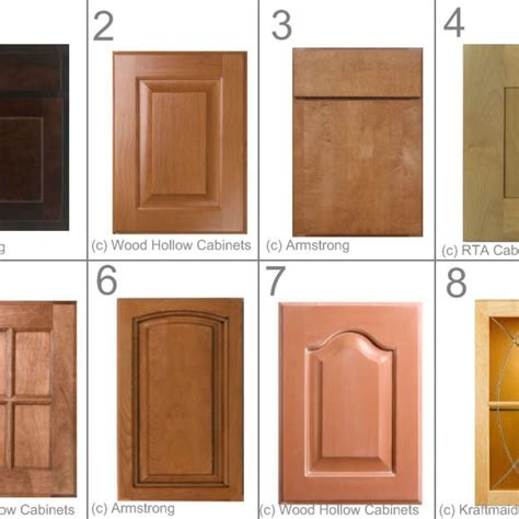 kitchen cabinet door styles and shapes to select home kitchen cabinet door styles