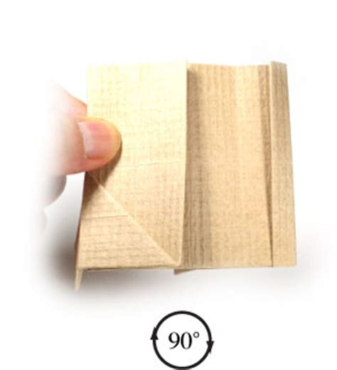 Easy Origami Chair - how to make a simple regular origami chair page 9