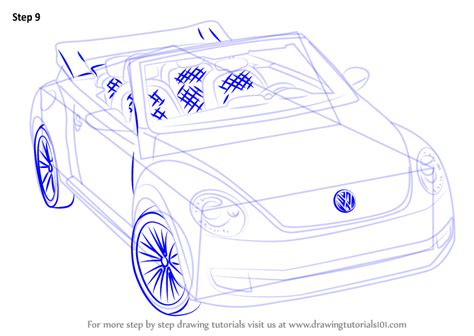 how to draw a convertible step by step cars draw cars step by step how to draw volkswagen beetle convertible