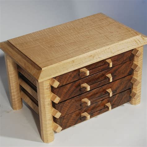 buy a handmade jewelry box in claro walnut and curly maple