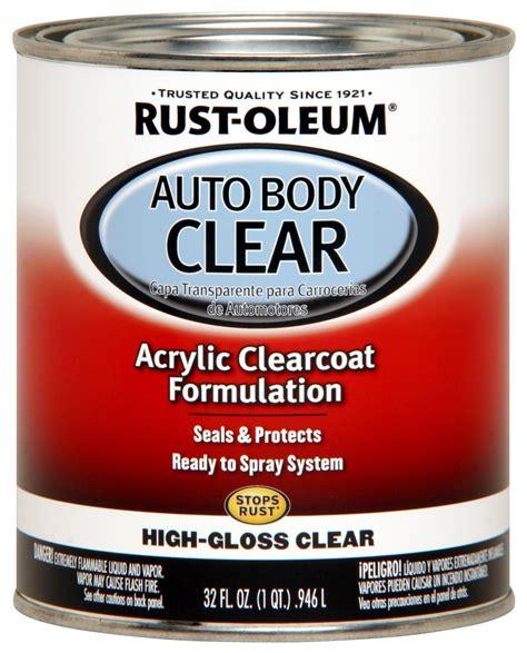 rust oleum paint acrylic lacquer gloss clear 1 qt ea 253522 ebay