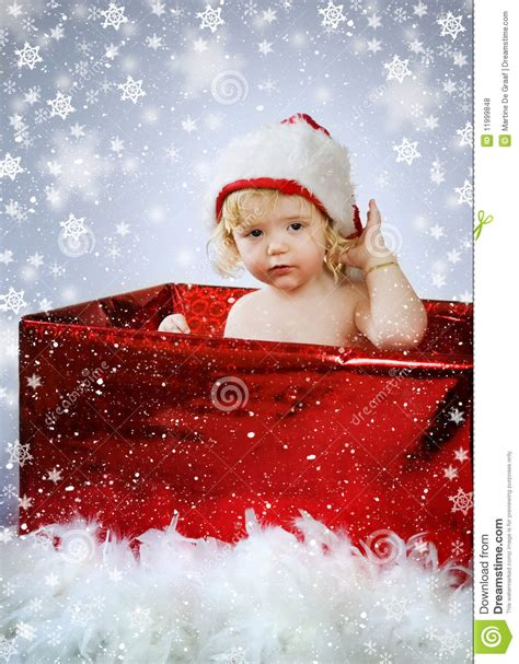 christmas baby gift royalty free stock photos image