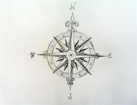 Minimalist Clock by Cool Compass Drawings Www Imgkid Com The Image Kid Has It