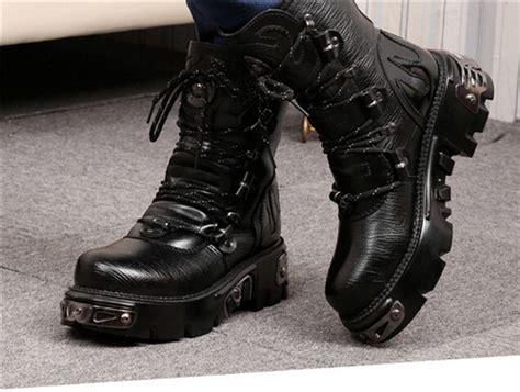 wholesale 2015 retro mens combat boots rock lace
