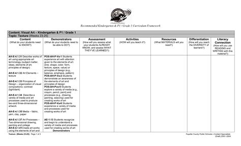 visual arts lesson plan template 16 best images of visual worksheets visual arts